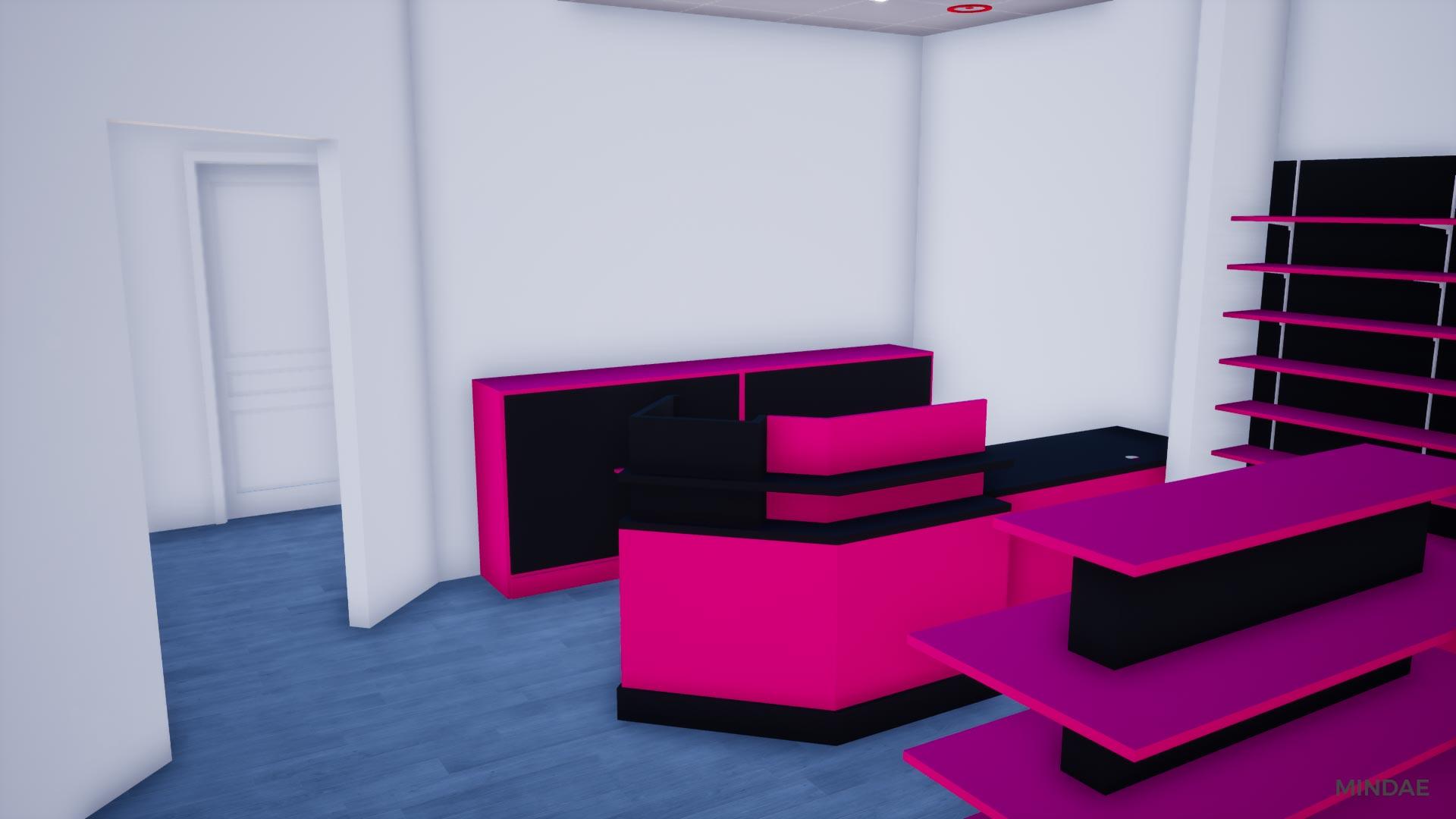 Mindae_parapharmacie_rose_ifs_comptoir_mobilier_agencement_gondoles_3D-(2)