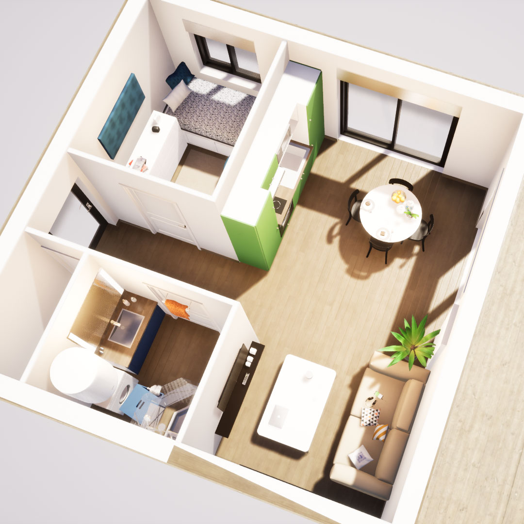 Mindae_3D_appartement_studio_étudiant_homestaging_immobilier_location_Miniature1