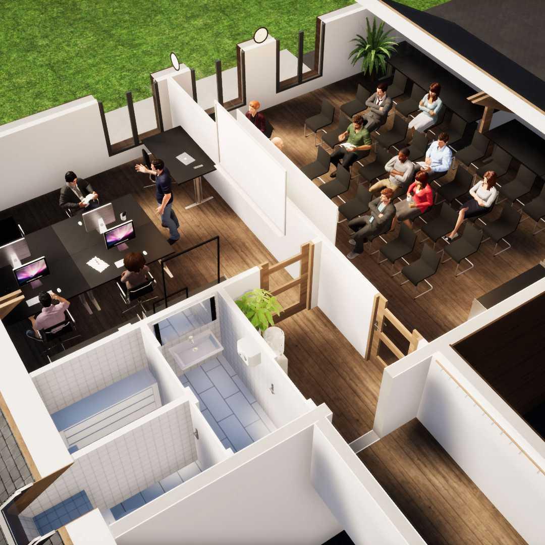 Mindae espace bureaux 3D pour conférences au golf de Caen