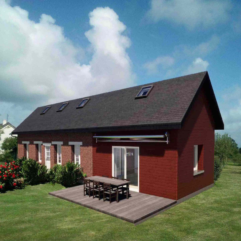 Mindae_3D_photomontage_maison_extension_bois_Cambremer_terrasse_miniature