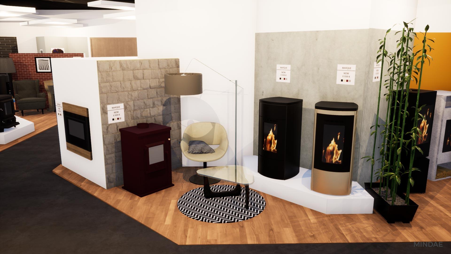 Mindae_3D_projet_agencement_poele_bois_cheminee_showroom_flamdesign_magasin_mondeville-(5)