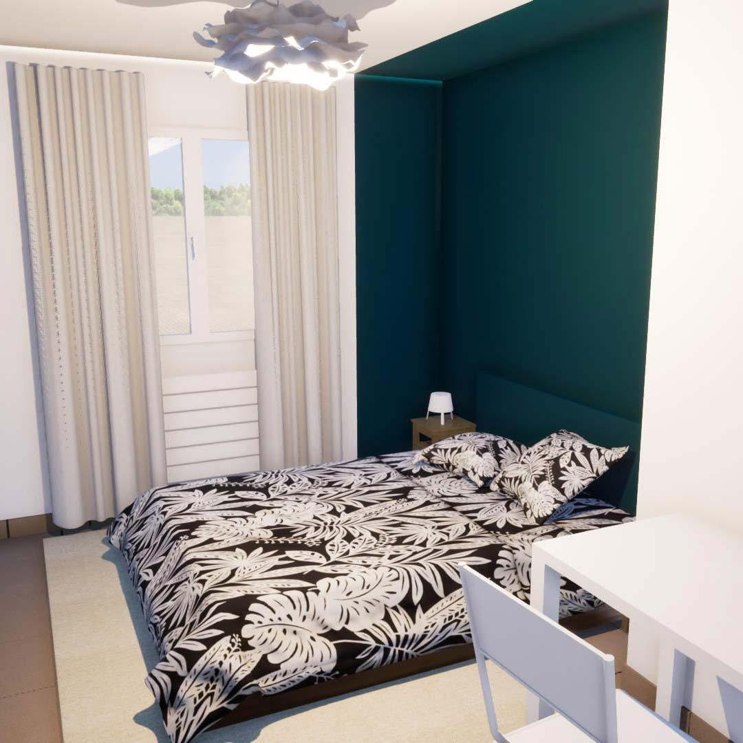 Mindae_3D_appartement_investisseur_colocation_F3_F2_renovation_design_tropical_ameublement_locatif_miniature