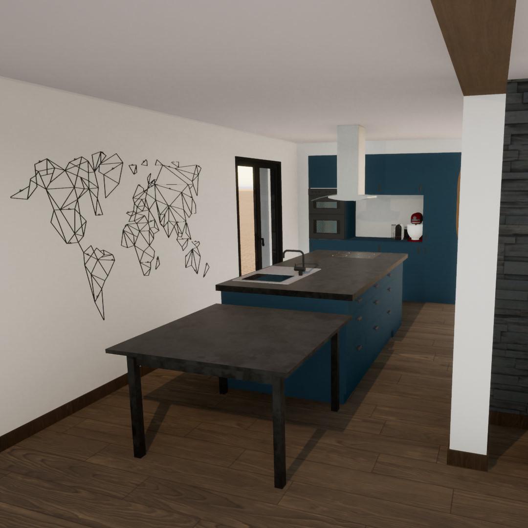 Mindae_Aménagement_Agencement _Poêle_cuisine américaine_3D (miniature)