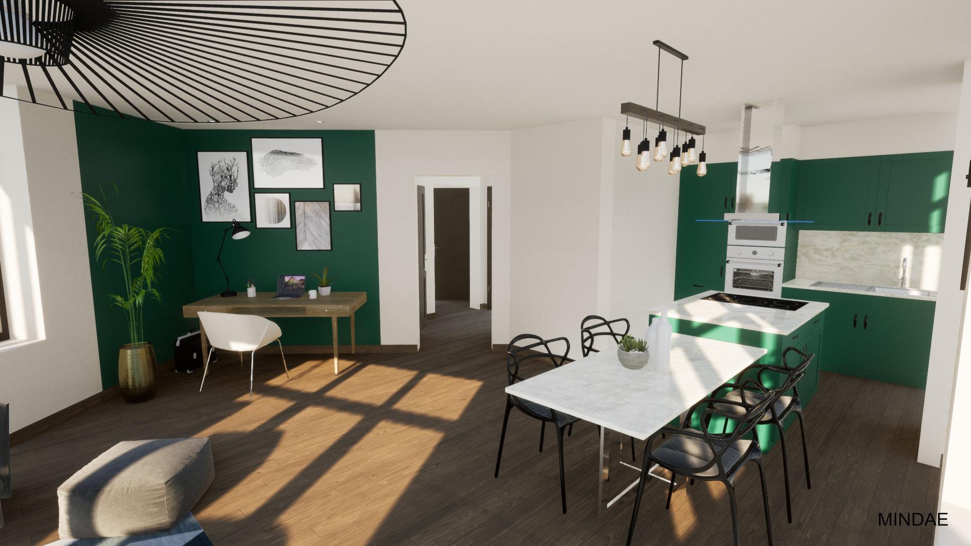 MINDAE_Charleroi_appartement_atypique_vue_bureau_sejour_cuisine
