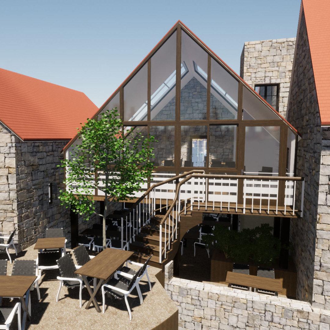 MINDAE_restaurant_extension_veranda_colombage_Domfront_terrasse_cours (miniature)