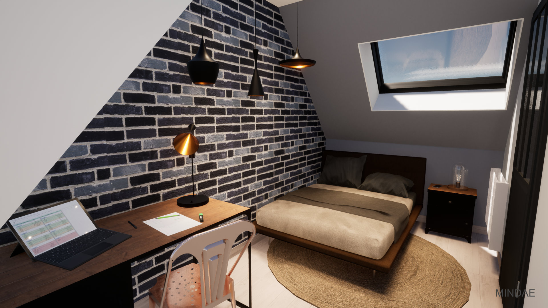 Mindae_Giang_Combles_Appartement_studio_chambre_mansarde_toiture (1)