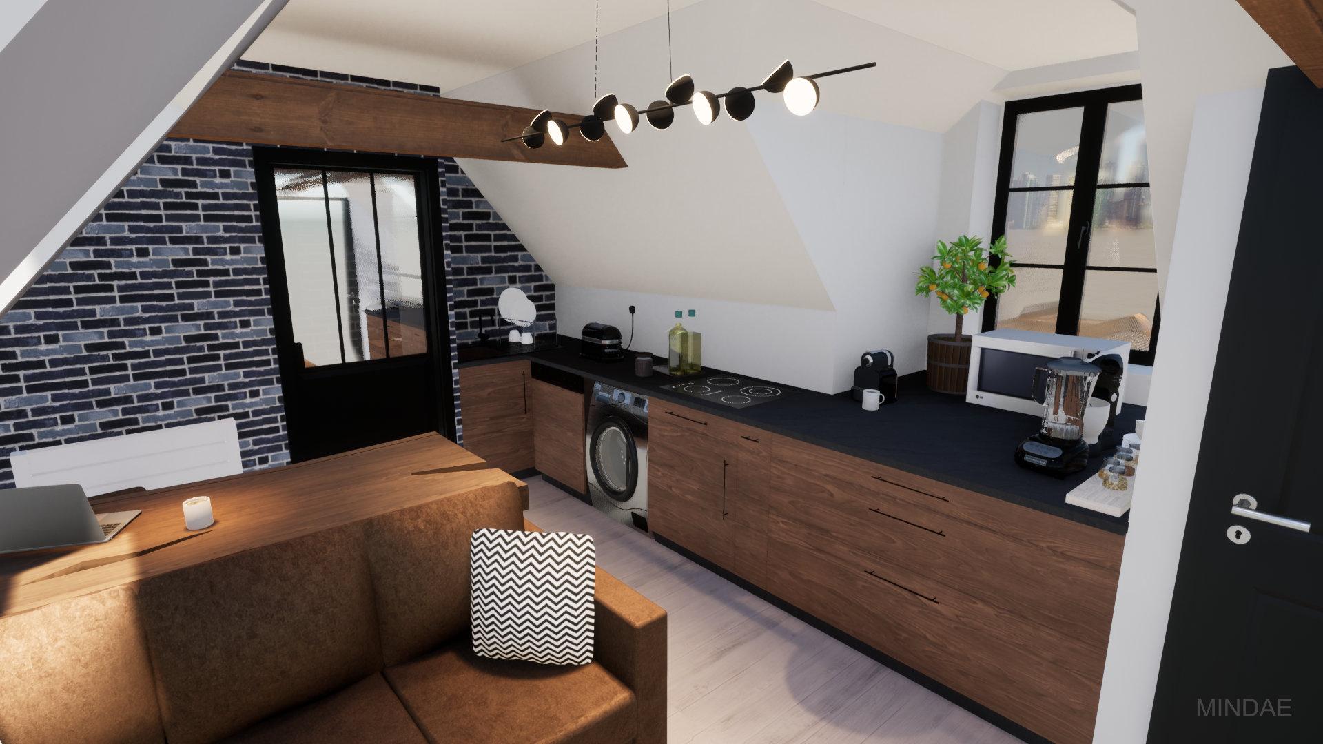 Mindae_Giang_Combles_Appartement_studio_sejour_cuisine_mansarde_toiture (3)